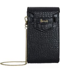 Harrods Nano Mini Black Phone Bag
