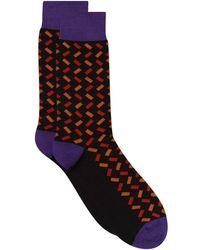 Pantherella - Geometric Socks - Lyst