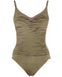 Maryan Mehlhorn | Ruched Swimsuit | Lyst