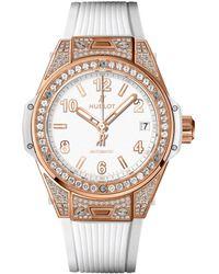 Hublot - Big Bang One Click18k King Gold White Pav Watch - Lyst