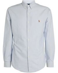 Ralph Lauren Striped Cotton Oxford Shirt - Blue
