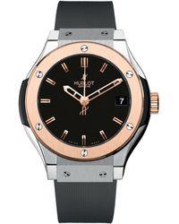Hublot Classic Fusion 33mm Titanium King Gold Watch - Black