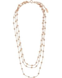 Joolz by Martha Calvo Triple Bead Choker - Metallic