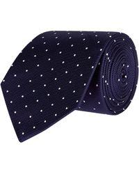 Eton of Sweden Polka Dot Tie - Blue