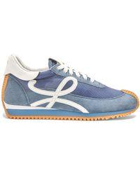 Loewe Suede Flow Runner Sneakers - Blue