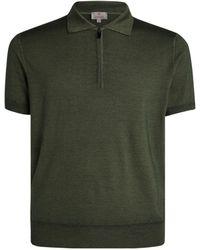 Canali - Wool-silk Polo Shirt - Lyst