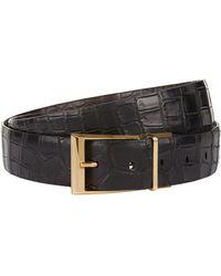 Zilli Reversible Crocodile Belt - Black