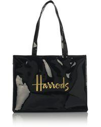 Harrods Signature Logo Tote Bag - Black