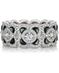 De Beers - White Gold And Diamond Enchanted Lotus Ring - Lyst