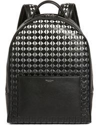Serapian Small Leather Mosaico Backpack - Black