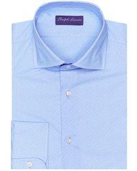 a00b3cb599e8 Lyst - Ralph Lauren Purple Label Striped Aston Dress Shirt in Blue ...