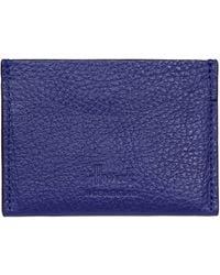 Harrods Leather Card Holder - Blue