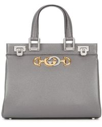 Gucci - Zumi Small Leather Top Handle Bag - Lyst
