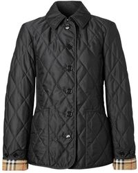 Burberry Diamond Quilted Thermoregulated Jacket - Black