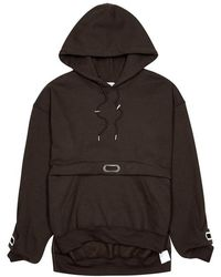 Collina Strada - Earring Hooded Cotton-blend Sweatshirt - Lyst