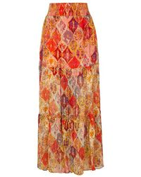 Free People - The Great Escape Floral-print Maxi Skirt - Lyst