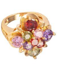 Susan Caplan Embellished Swarovski Crystal Ring - Metallic