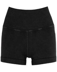 Free People Good Karma Faded Black Stretch-jersey Shorts