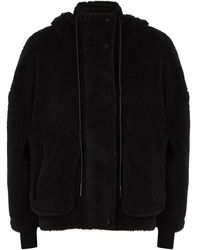 Varley Montalvo Black Faux Shearling Jacket