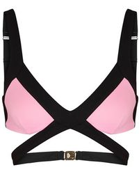 Agent Provocateur - Mazzy Pink Cut-out Bikini Top - Lyst