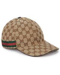 Gucci - Gg Supreme Logo Canvas Baseball Hat - Lyst