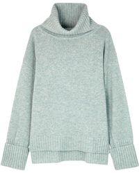 Filippa K - Blue Mélange Roll-neck Wool Jumper - Lyst