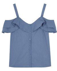 PAIGE - Cleva Open-shoulder Cotton Top - Lyst