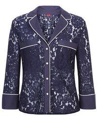 Kitri   Alice Lace Pyjama Shirt   Lyst