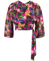 Diane von Furstenberg Irene Floral-print Silk Wrap Top - Multicolor