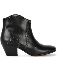 Isabel Marant - Dicker Studded Leather Ankle Boots - Lyst