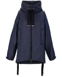 Max Mara The Cube - Water-repellent Canvas Hoodie - Blue