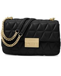 MICHAEL Michael Kors - Sloan Large Quilted Leather Shoulder Bag - Lyst