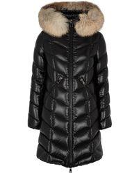 Moncler - Fulmar Fur-trimmed Shell Coat - Lyst