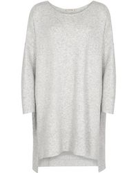 American Vintage - Damsville Grey Knitted Jumper Dress - Lyst