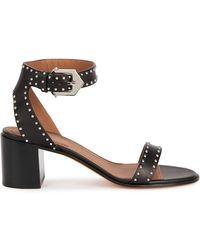 Givenchy Elegant Black Studded Leather Sandals