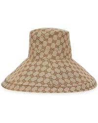 Gucci GG Monogrammed Canvas Bucket Hat - Natural