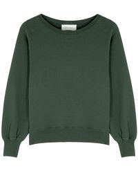 American Vintage Fobye Forest Green Cotton-blend Sweatshirt