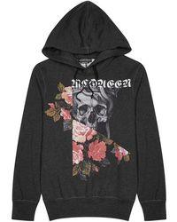 Alexander McQueen - Grey Printed Cotton Sweatshirt - Lyst