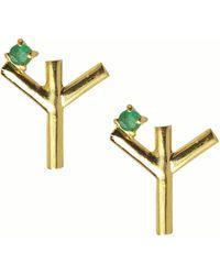 Isabel Englebert Runes Protection Earring - Metallic