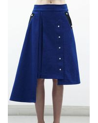 Jamie Wei Huang Claire A Line Denim Skirt - Blue