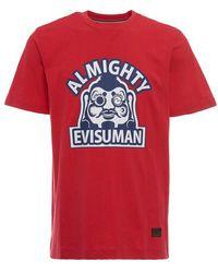 Evisu - Almighty Man Godhead Print T-shirt - Lyst