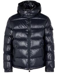 Maya Navy Quilted Shell Jacket Blue