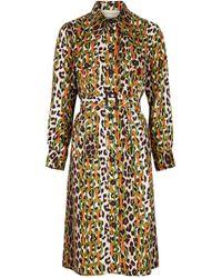 La Prestic Ouiston Loulou Printed Silk Shirt Dress - Multicolor