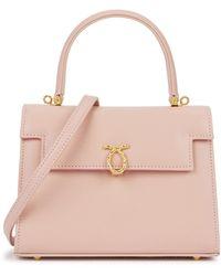 Launer Judi Medium Leather Top Handle Bag - Pink