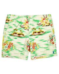Polo Ralph Lauren - Palm Tree-print Stretch-cotton Shorts - Lyst