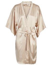 Stella McCartney - Clara Whispering Lace-trimmed Silk Robe - Size L - Lyst