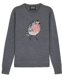 Markus Lupfer - Tracy Embellished Wool Jumper - Lyst