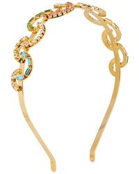 Rosantica Brio Crystal-embellished Gold-tone Headband - Metallic