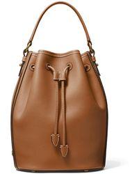 Michael Kors Monogramme Medium Leather Bucket Bag - Brown