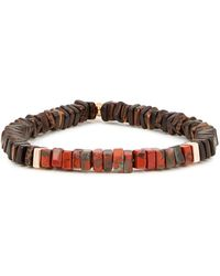 Tateossian Large Rose Gold-plated Beaded Bracelet - Brown